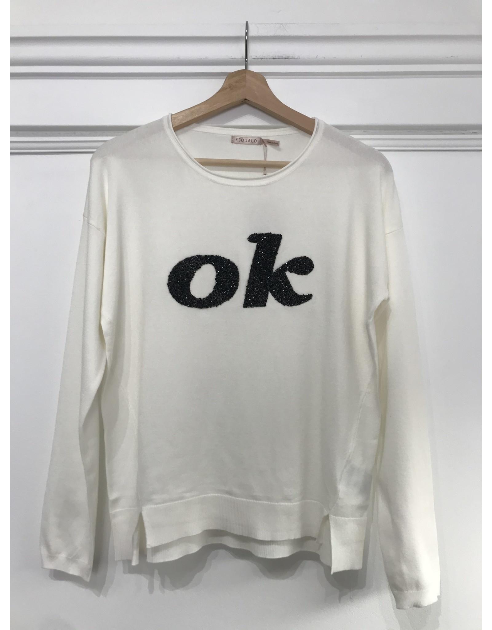 EsQualo EsQualo - OK Sequined sweater (off white)