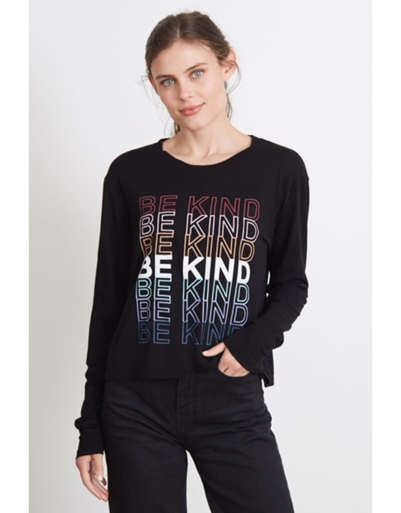 good hYOUman good hYOUman - Phoebe long sleeve tee - Be Kind Repeat