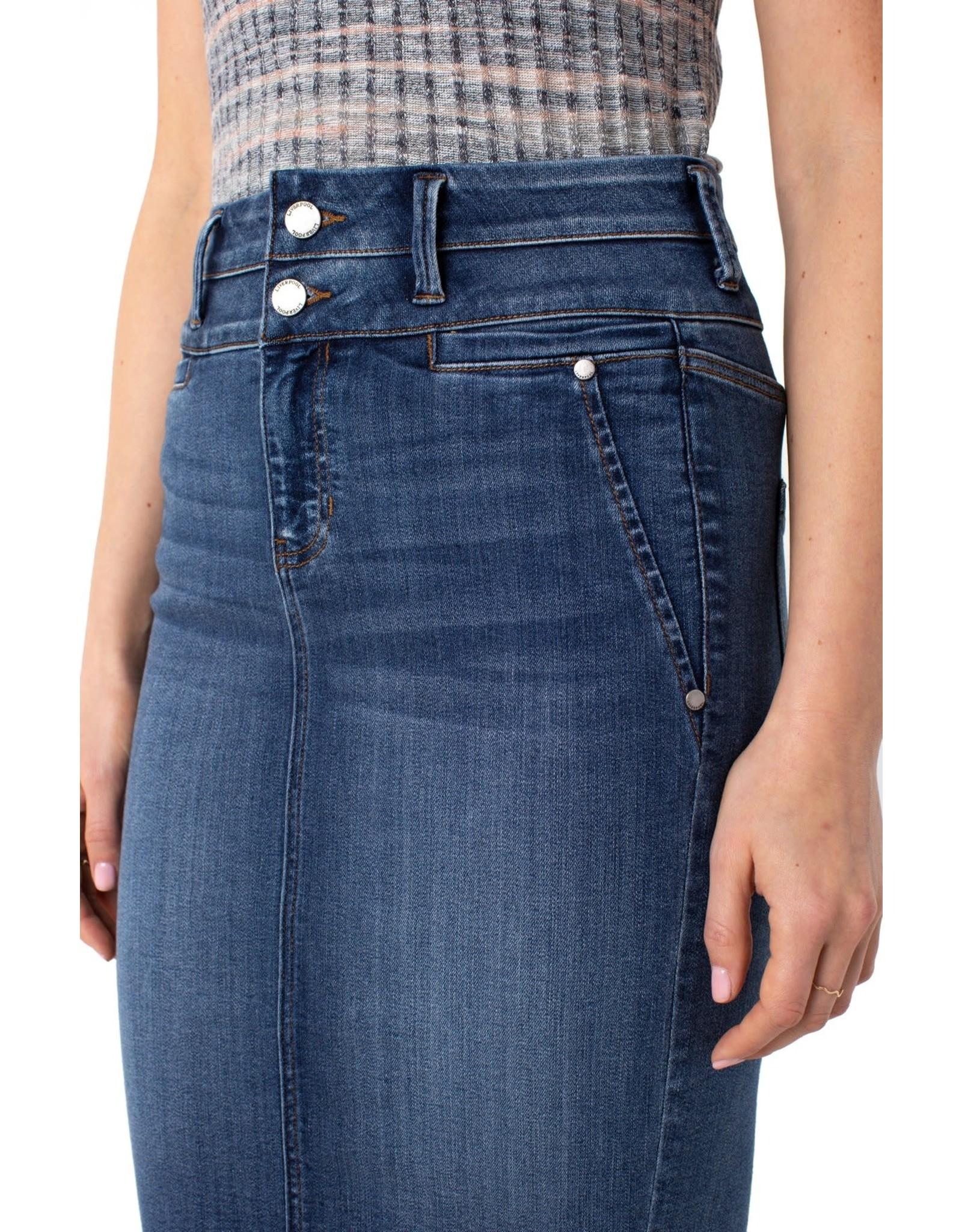 Liverpool Liverpool - Hi-Rise double waistband skirt