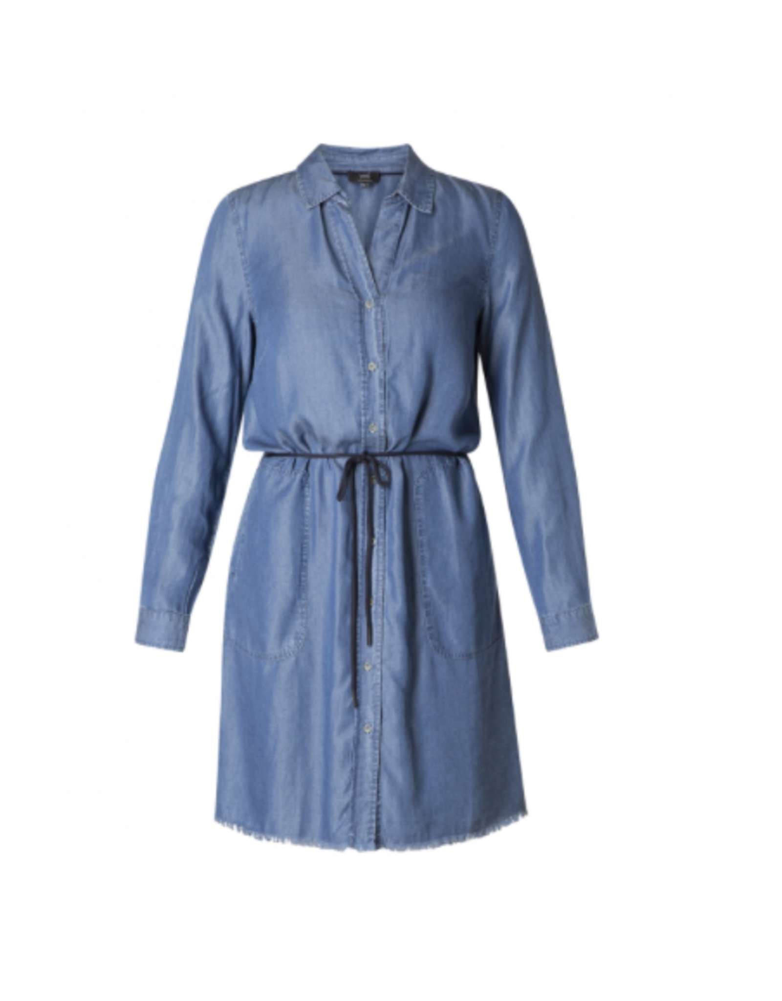 Yest Yest - Chambray dress with waist tie