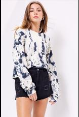 Alexis - Cropped tie dye sweatshirt