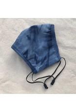 Papillon Papillon - Cotton face mask (Tie dye - denim)
