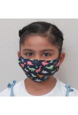 Papillon Papillon - KIDS size - Dinosaur print cotton mask
