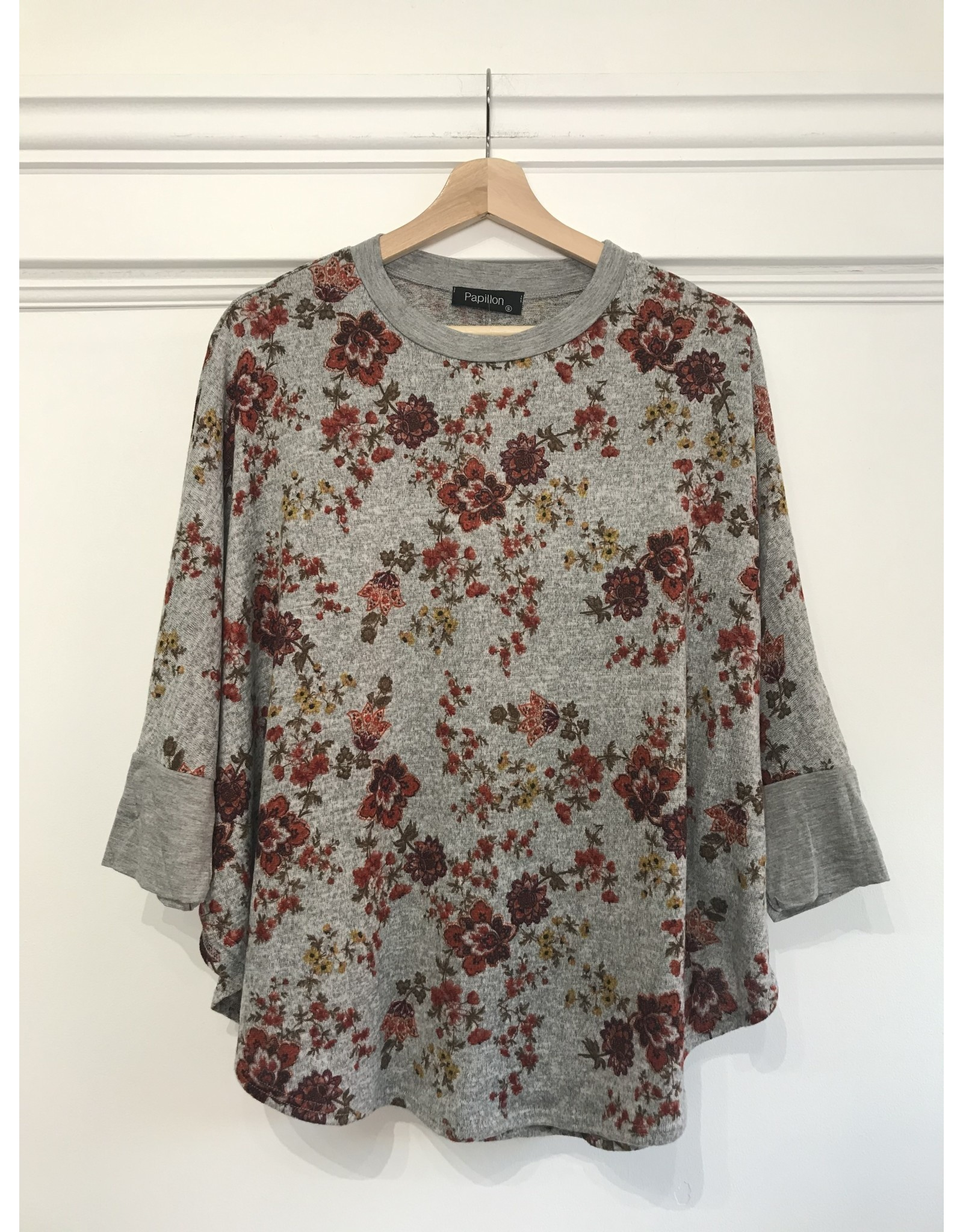Papillon Papillon - Floral top with bell sleeves