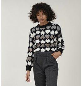 Molly Bracken Molly Bracken - Heart print sweater (black)