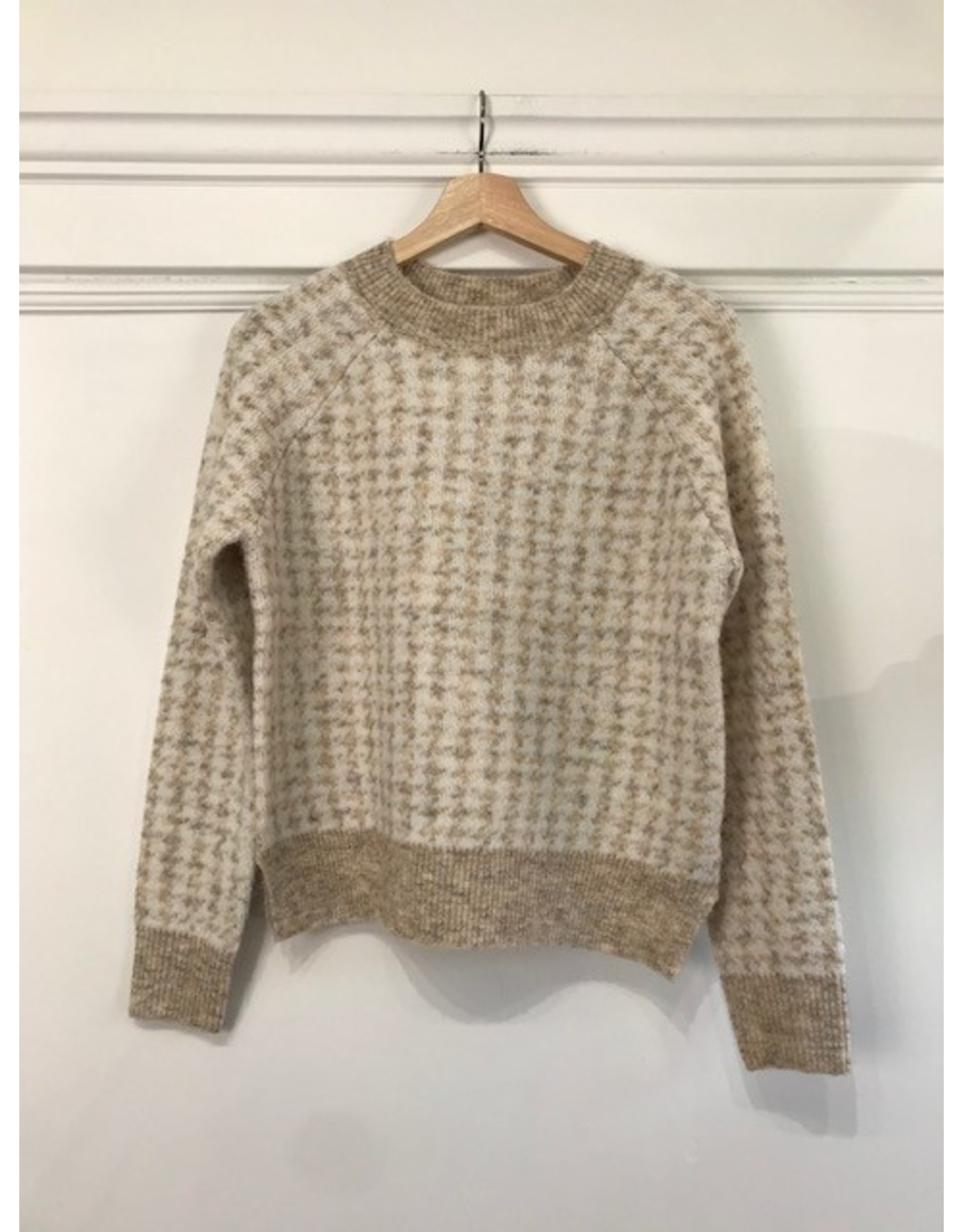 RD Style RD Style - Hounds tooth check sweater (natural)