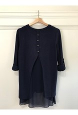 Papillon Papillon - Layered blouse (navy)