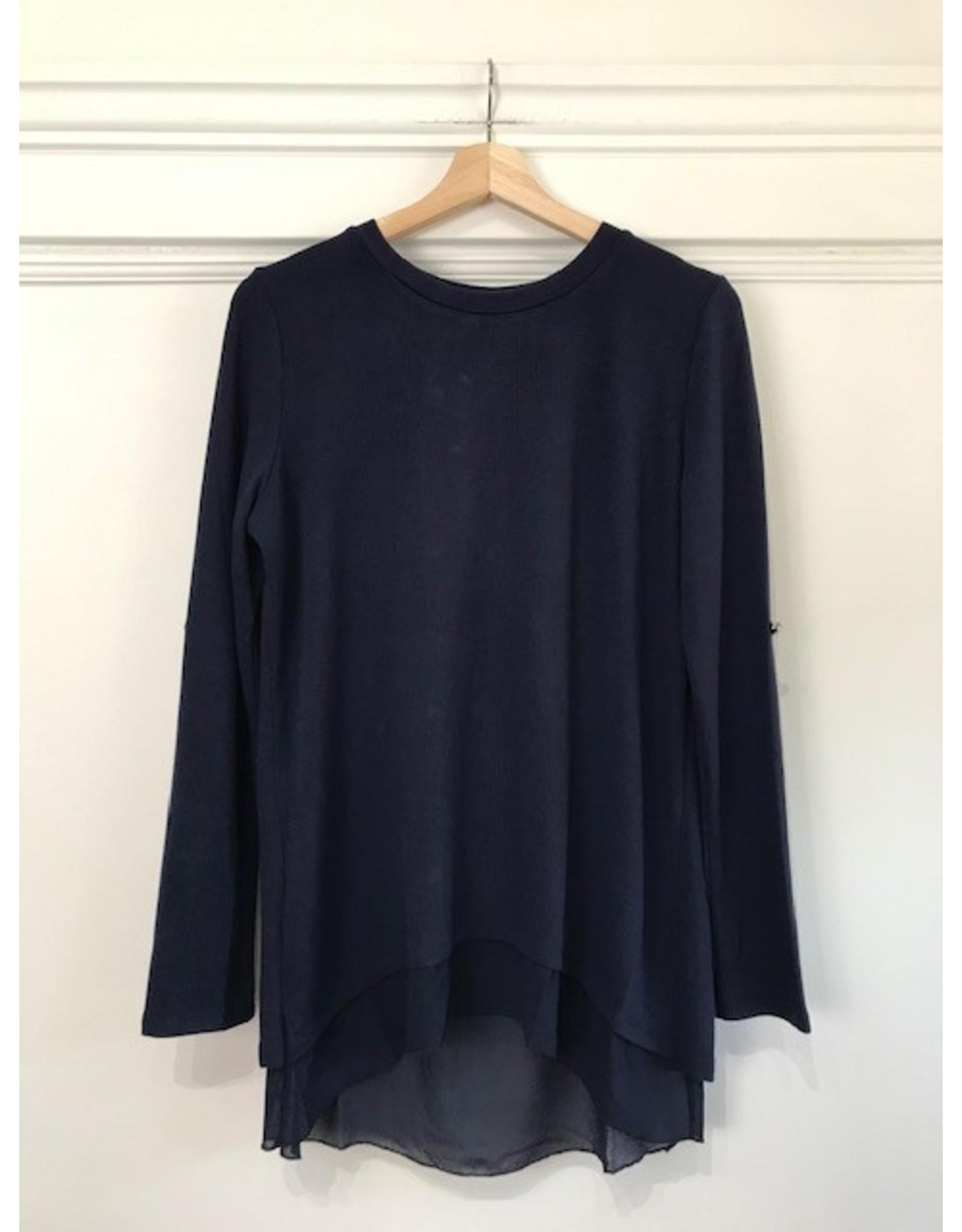 Papillon Papillon - Layered blouse (navy)