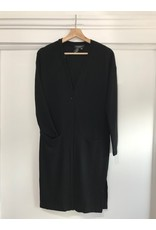 Papillon Papillon - Long cardigan with side slit (black)