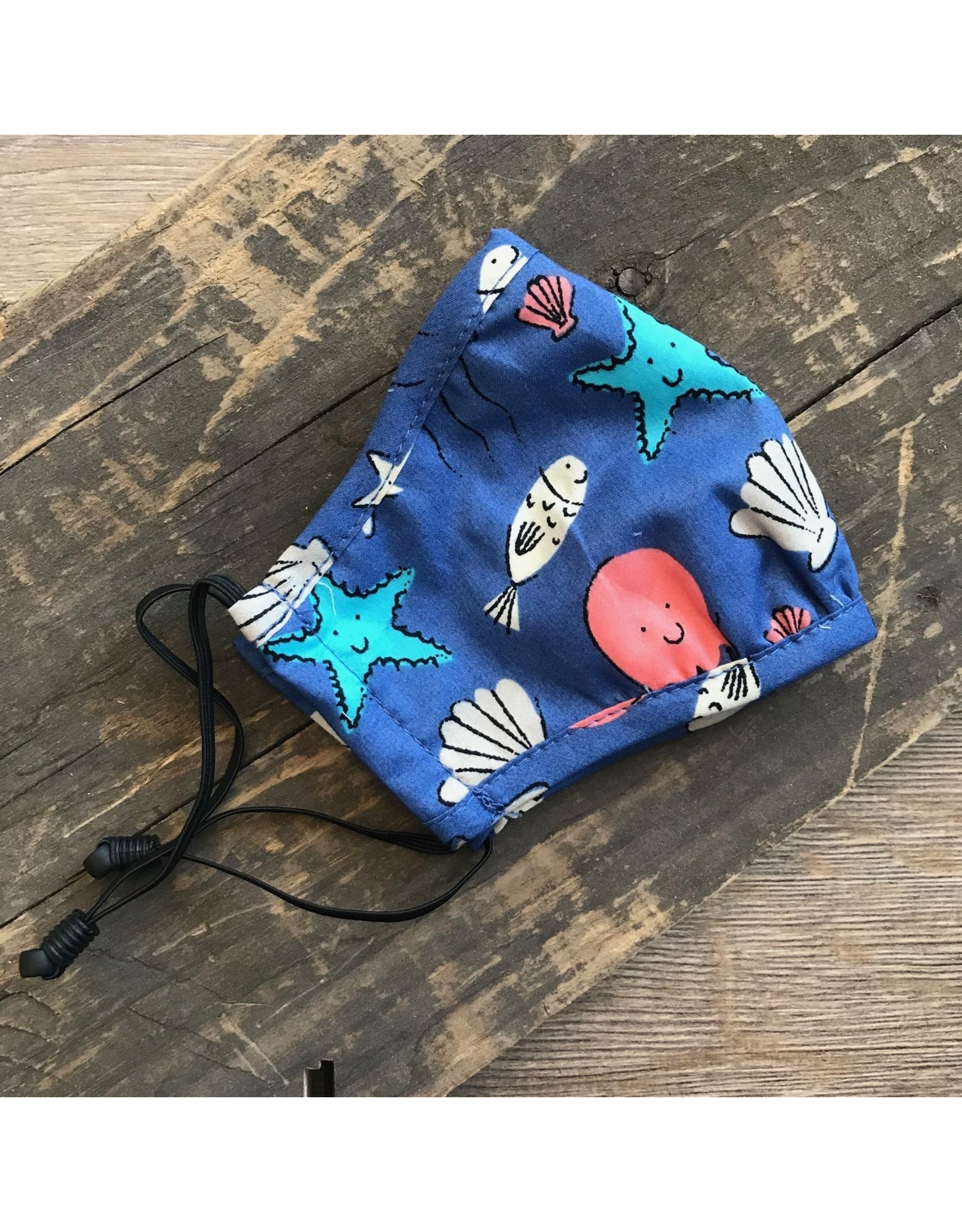 Papillon Papillon - KIDS size - Cotton mask (ocean print)
