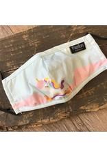 Papillon Papillon - KIDS size - Cotton mask (unicorn print)