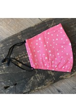 Papillon Papillon - Star print cotton mask (pink)