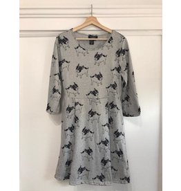Papillon Papillon - Bulldog print sweater dress