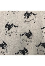 Papillon Papillon - Bulldog print sweater dress
