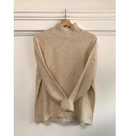 EsQualo EsQualo - High neck sweater with ribbed sleeves