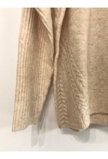 EsQualo EsQualo - High neck sweater with ribbed sleeves