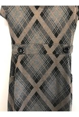 Papillon Papillon - Plaid cowl neck tunic with pockets