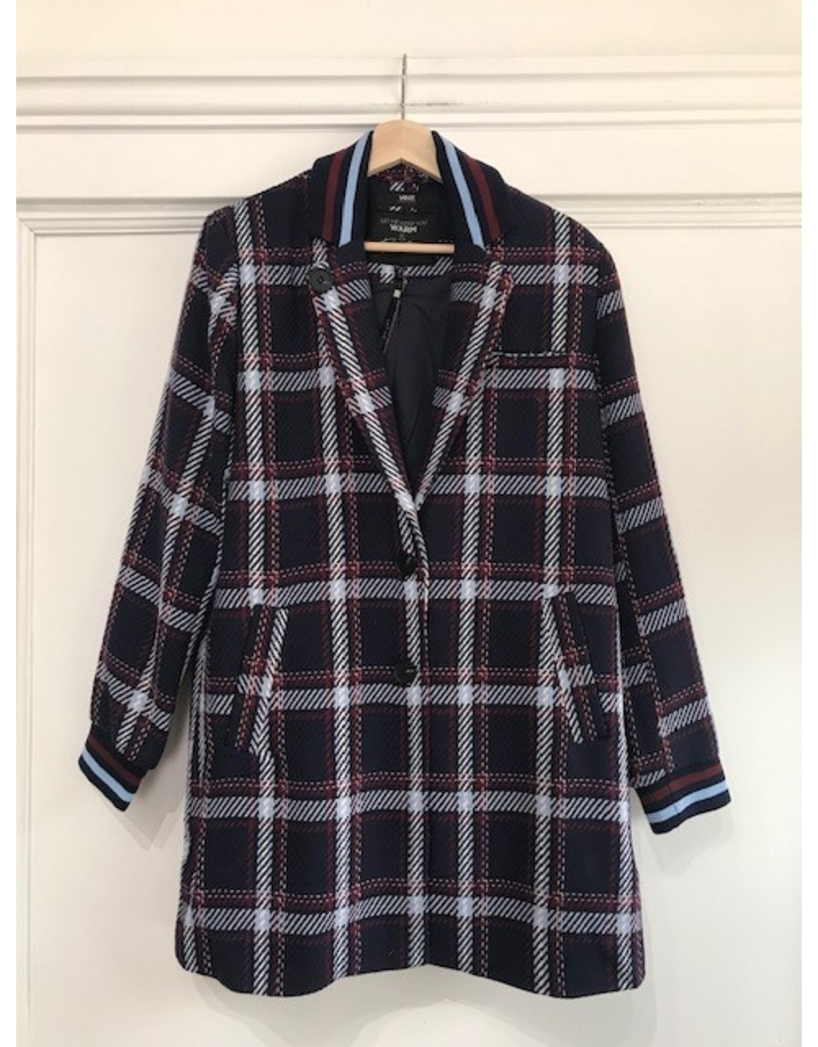 Yest Yest - Navy plaid coat