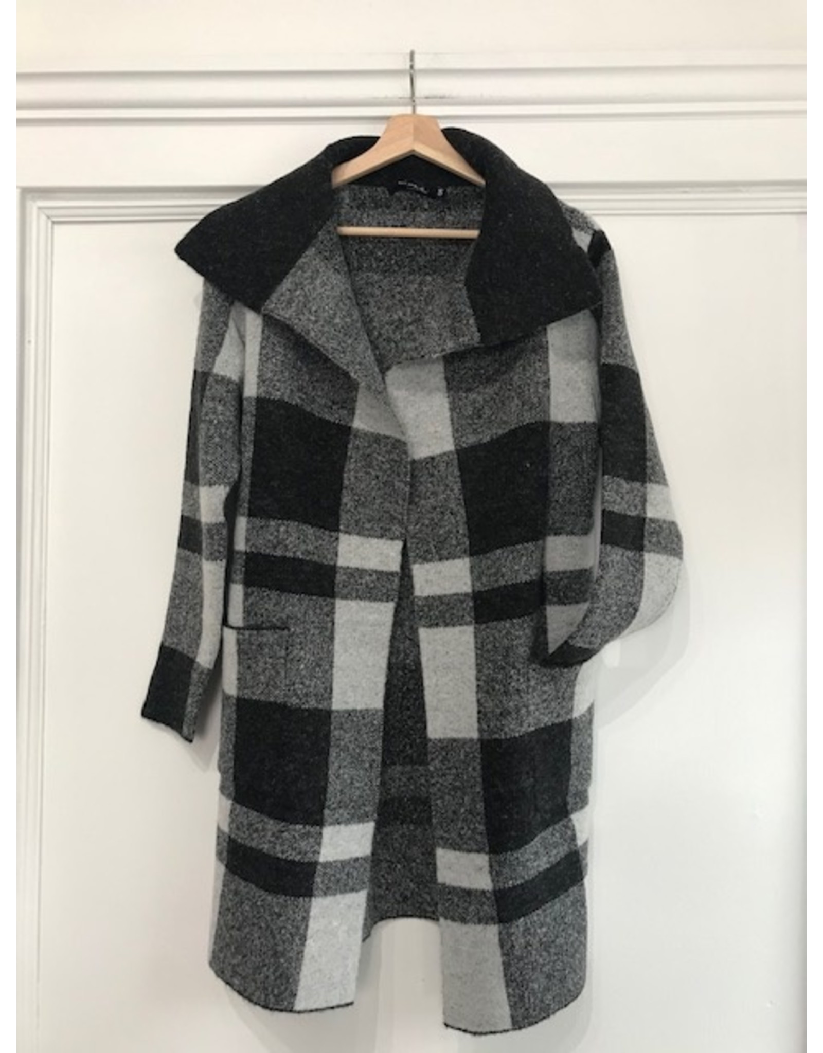 Grey check coatigan