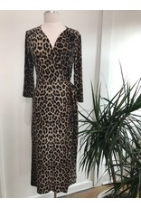 Papillon Papillon - Leopard print wrap dress