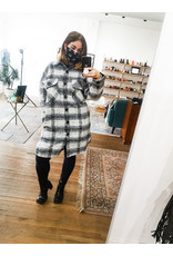 RD Style RD Style - Woven coat (blue plaid)