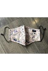 Papillon Papillon - Face mask (violet/blue/white floral print)