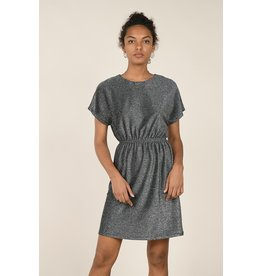Molly Bracken Molly Bracken - Gunmetal glitter dress with elastic waist