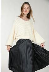 Molly Bracken Molly Bracken - Openwork knit sweater (ecru)