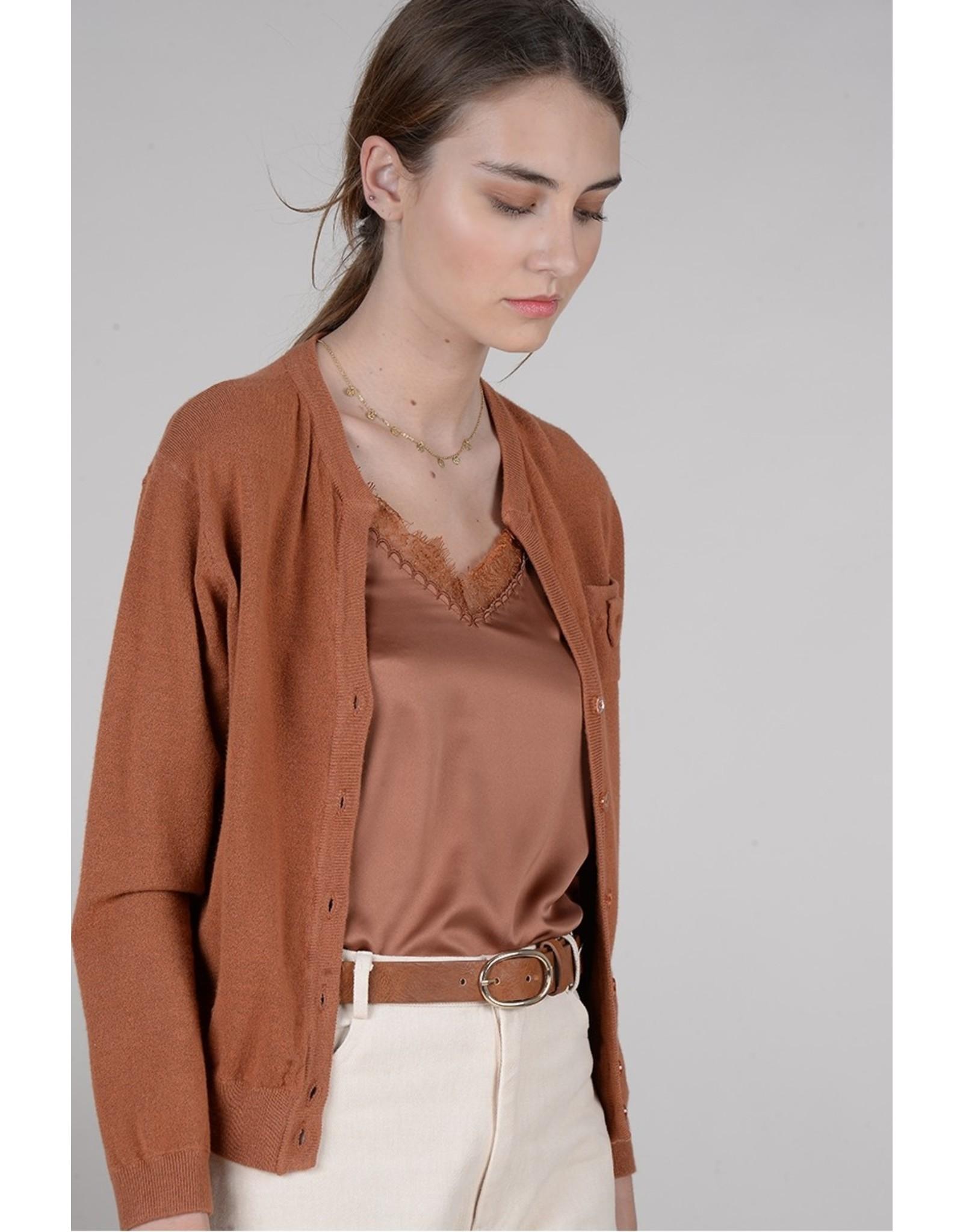 Molly Bracken Molly Bracken - V neck camisole (camel)