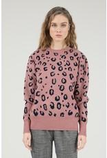 Molly Bracken Molly Bracken - Animal print sweater (pink)