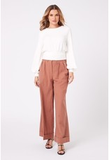 Mink Pink Mink Pink - Blouson sleeve top (white)