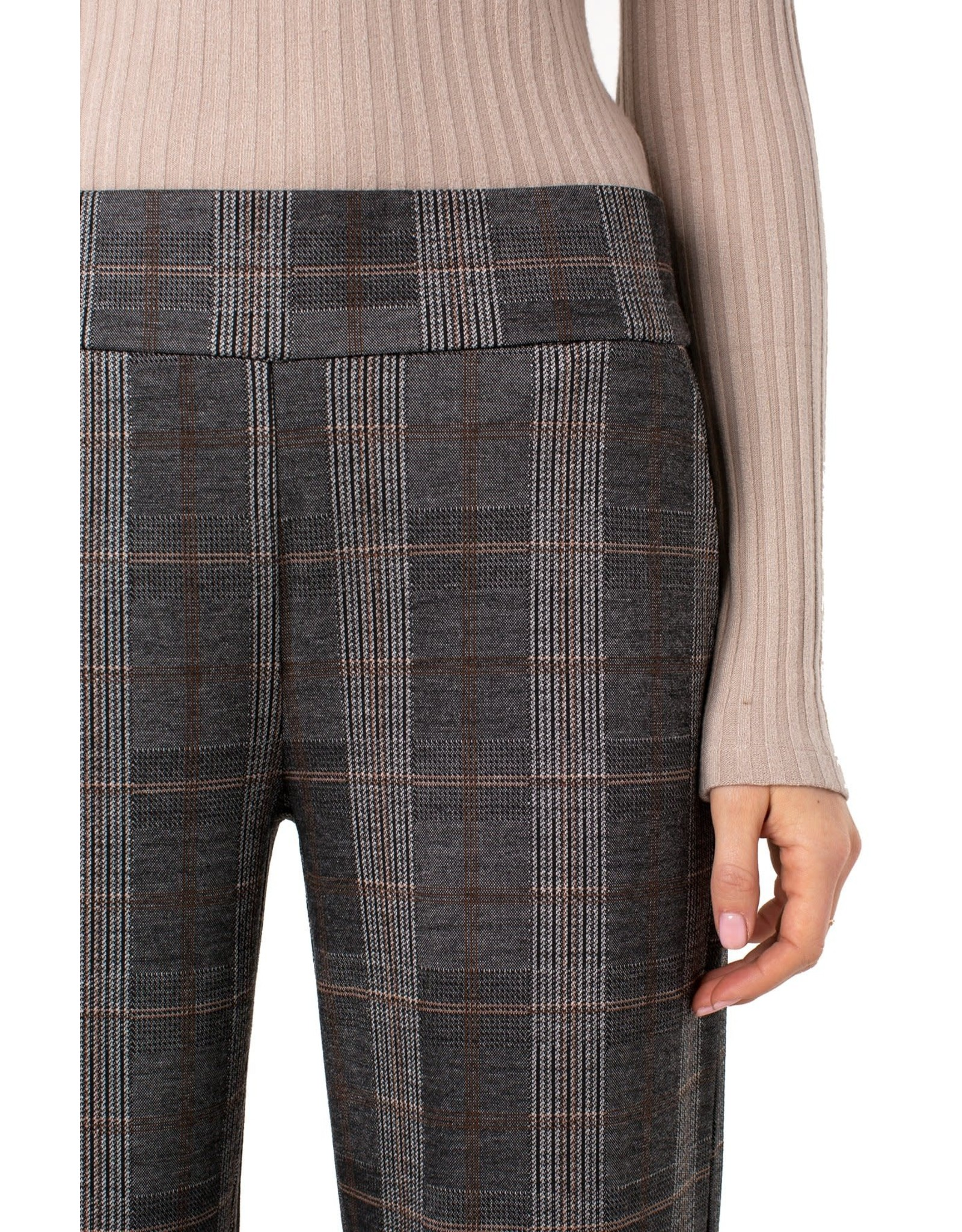 Liverpool Liverpool - Mabel pull-on wide leg (cream/tan/blk check)