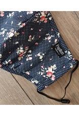 Papillon Papillon - Dot and floral cotton mask