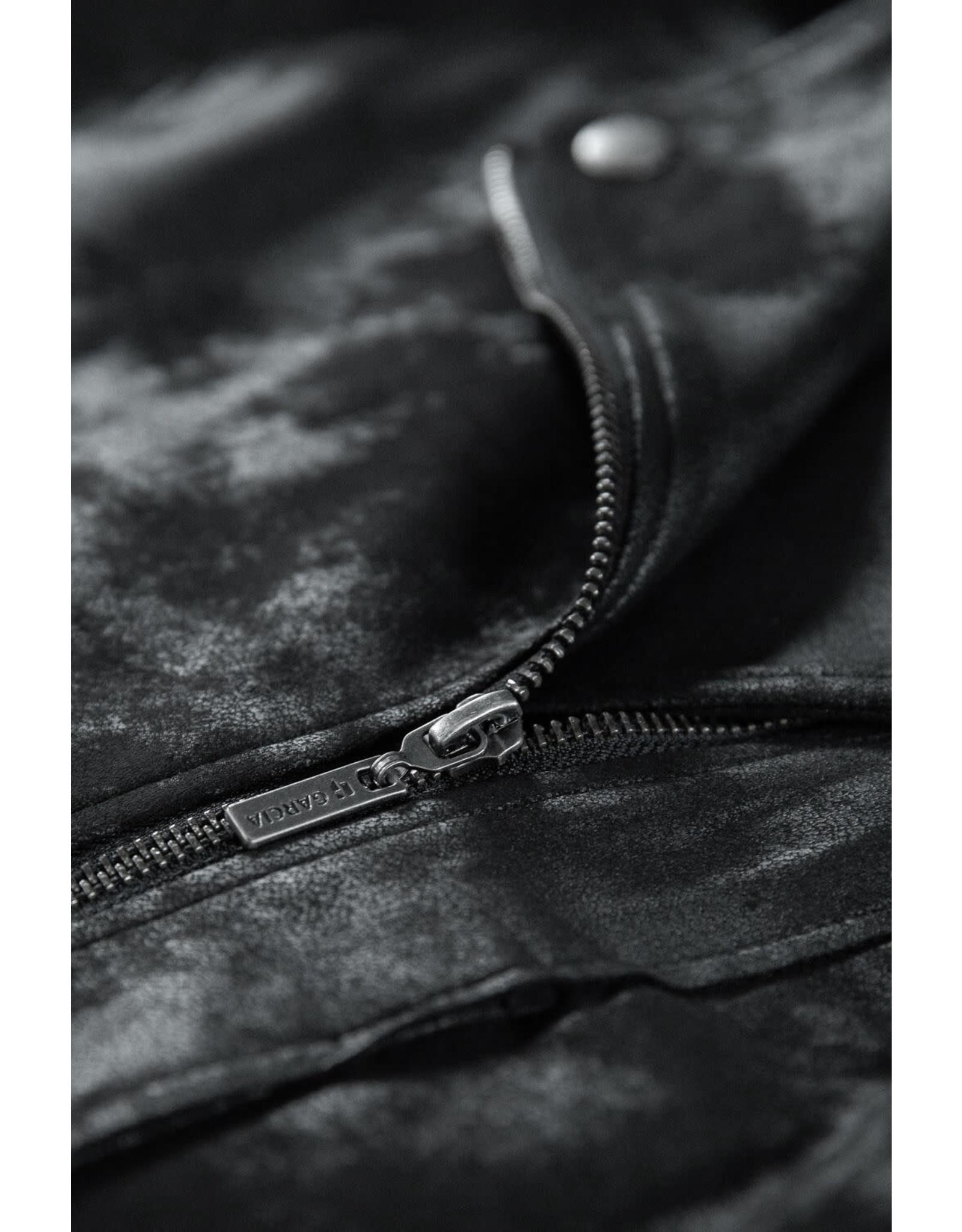 Garcia Garcia - Black Suedine Biker Jacket