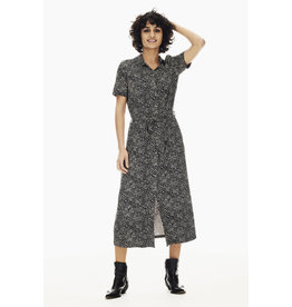 Garcia Garcia - Black Midi Dress With Allover Print