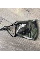 Papillon Papillon - KIDS SIZE - Camo print cotton mask (khaki)