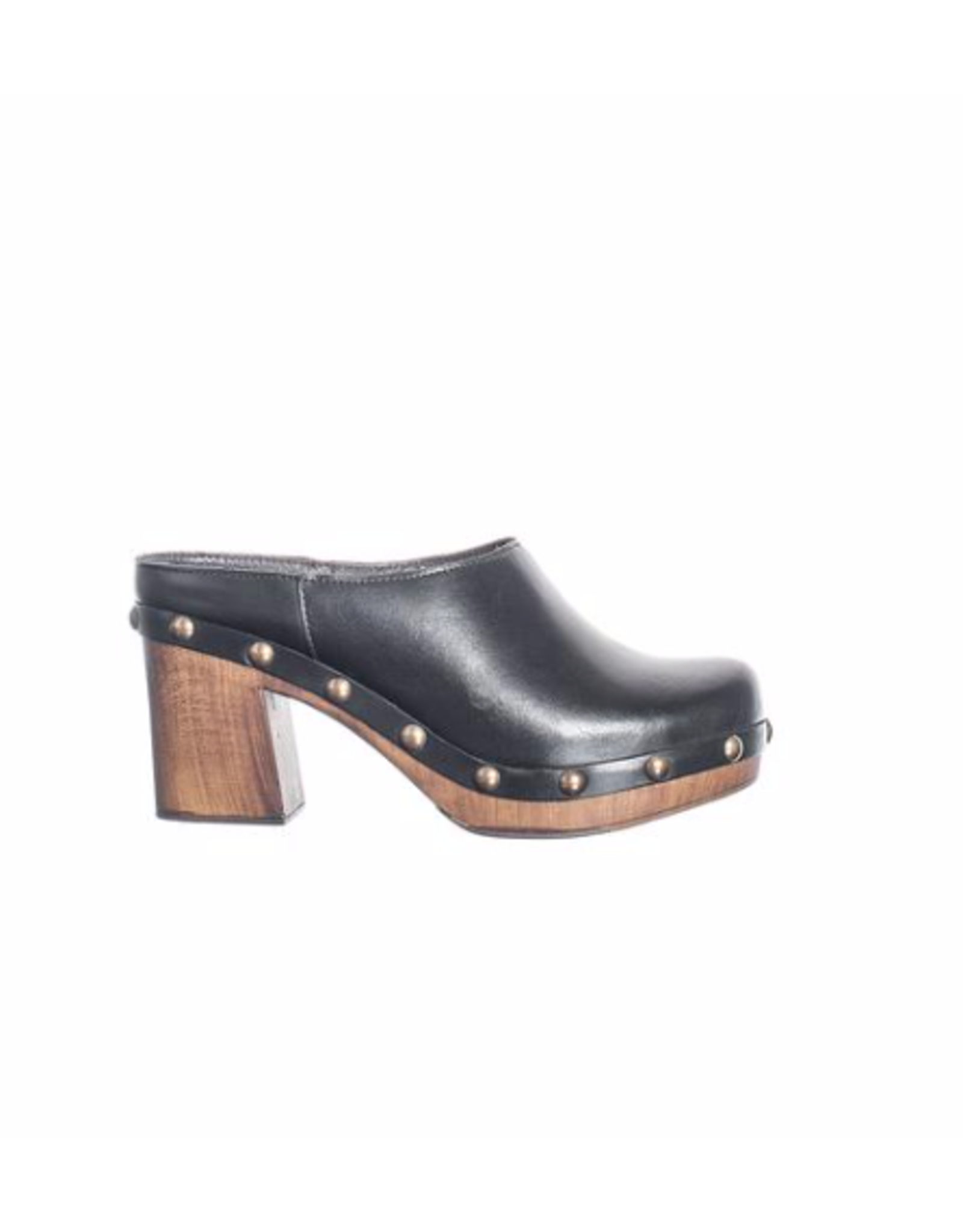 Ten Points Ten Points - Faye brushed leather slide (black)