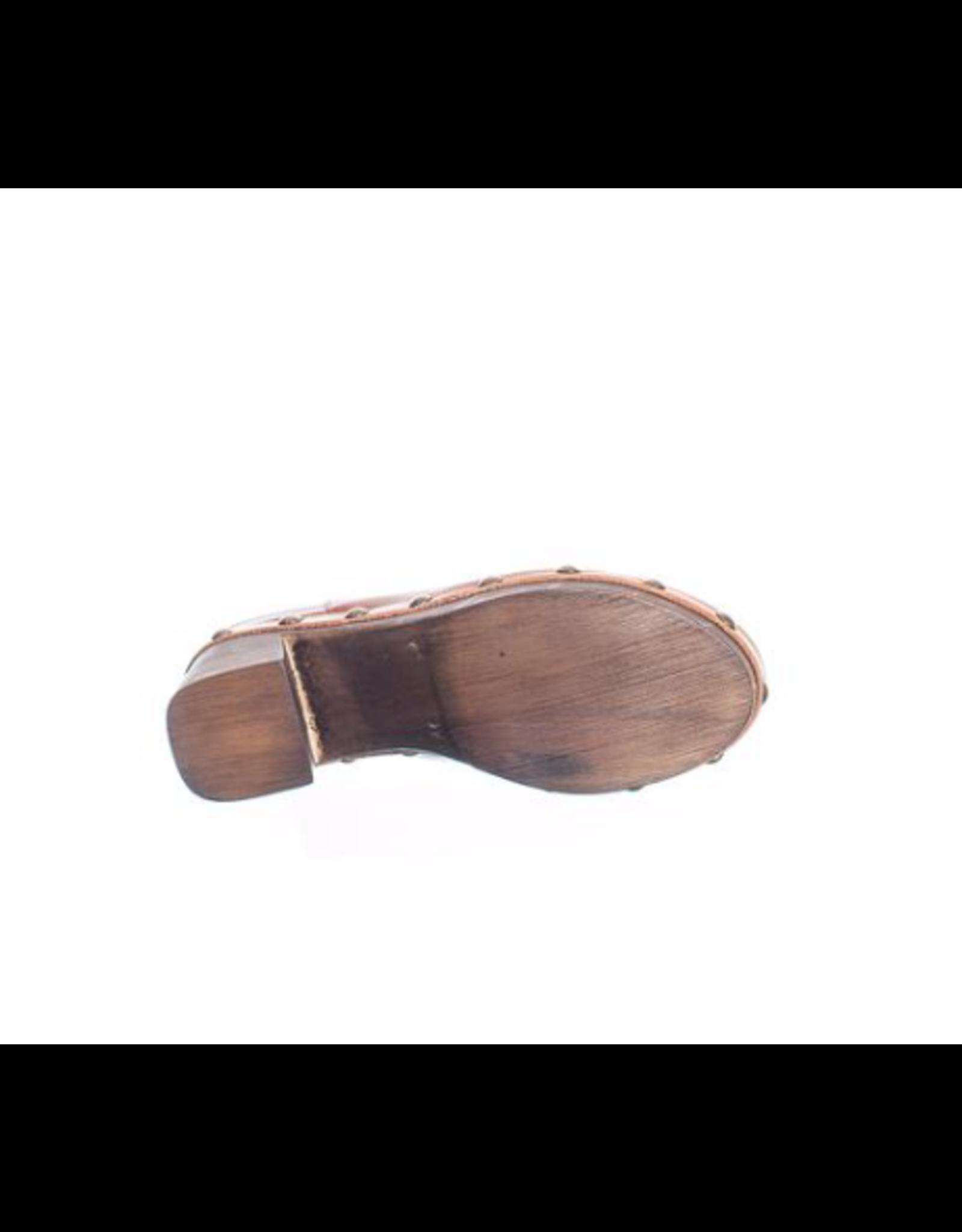 Ten Points Ten Points - Faye brushed leather slide (cognac)