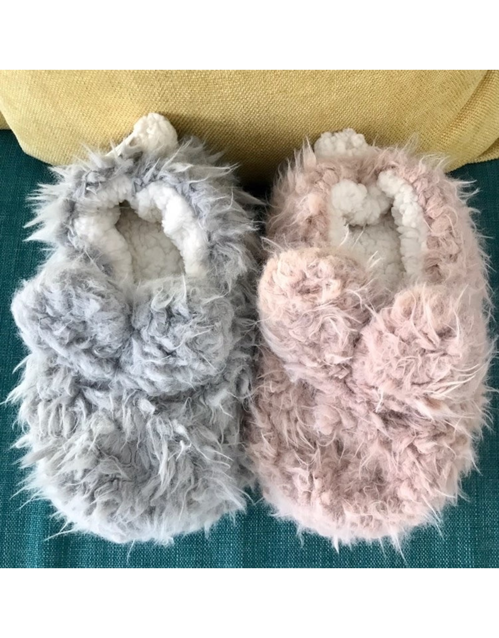 Lemon Lemon - Shaggy bunny slipper (Oxford - grey)