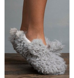 Lemon Lemon - Shaggy bunny slipper (Oxford - grey)