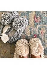Lemon Lemon - Ballerina slipper with yarn pom (ivory)