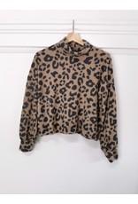 Papillon Papillon - Leopard print  cropped top (fleece)
