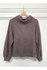 Papillon Papillon - Soft cowl neck sweater (wine)