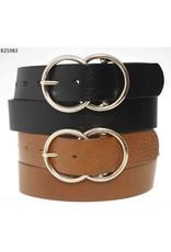 Medike Landes Medike Landes - Marie double ring leather belt (black)