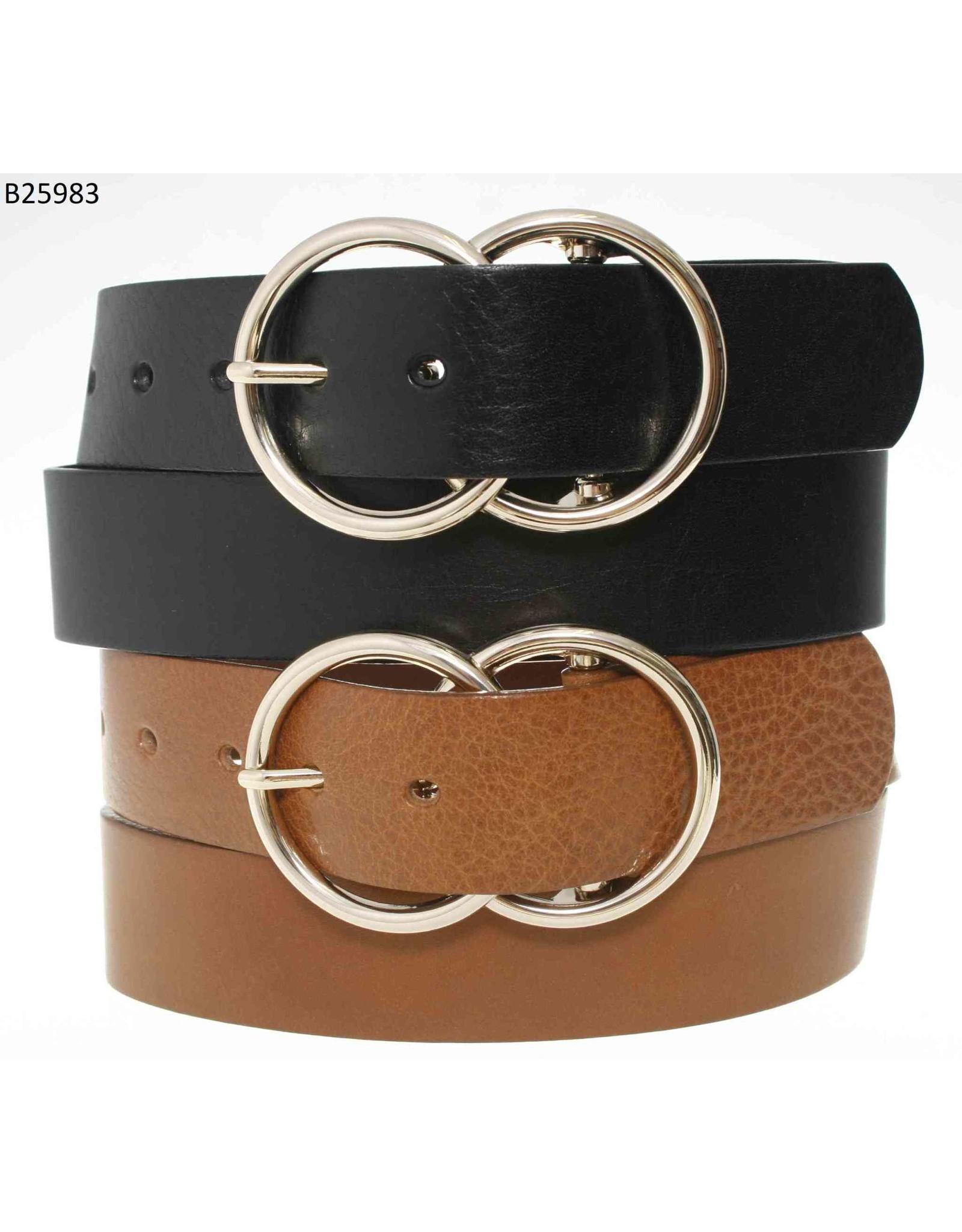 Medike Landes Medike Landes - Marie double ring leather belt (tan)