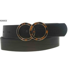 Medike Landes Medike Landes - Portia leather belt with tortoise shell accent