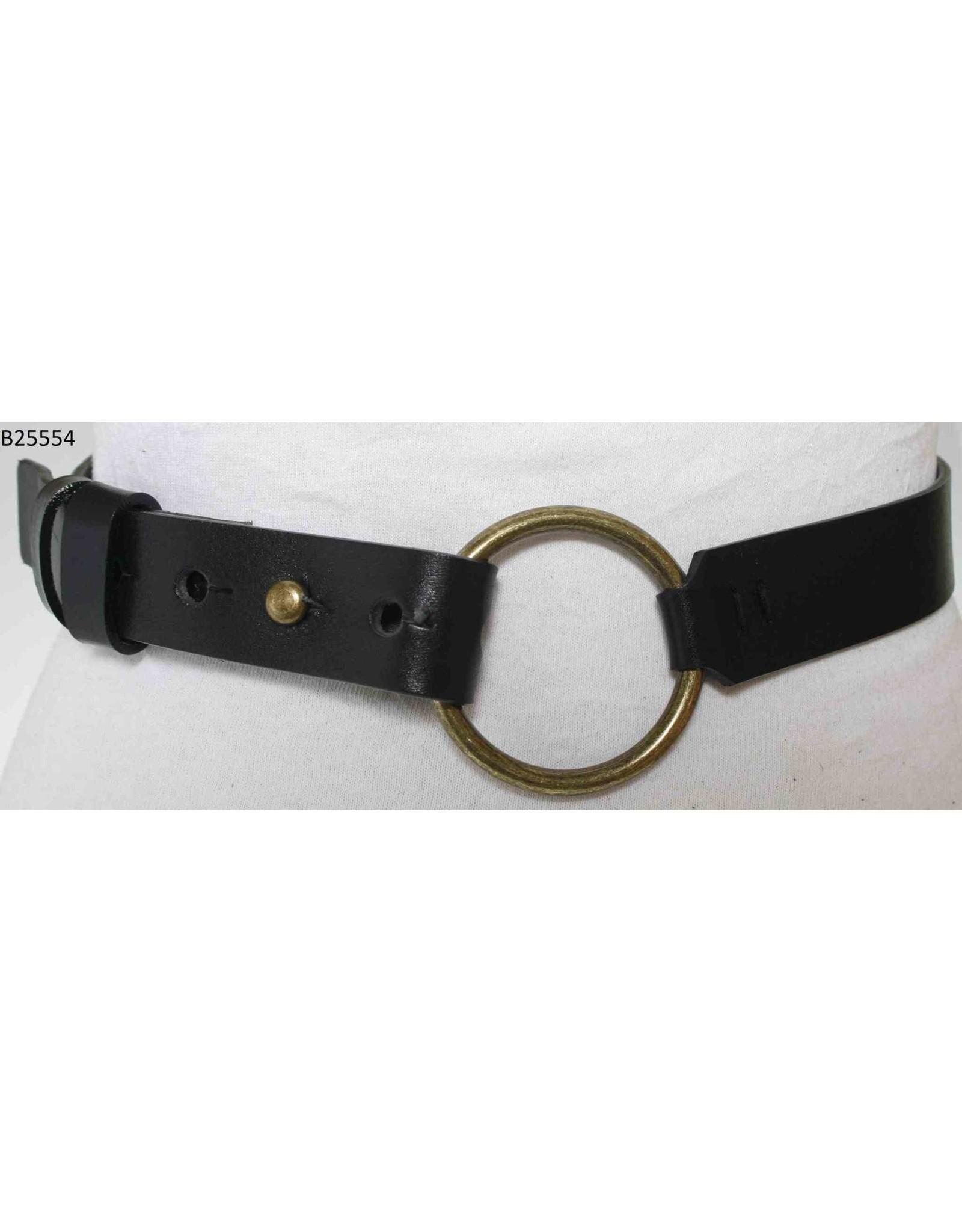 Medike Landes Medike Landes - Lyla black leather belt with front ring