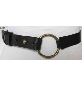 Medike Landes Medike Landes - Lyla black leather belt with front ring