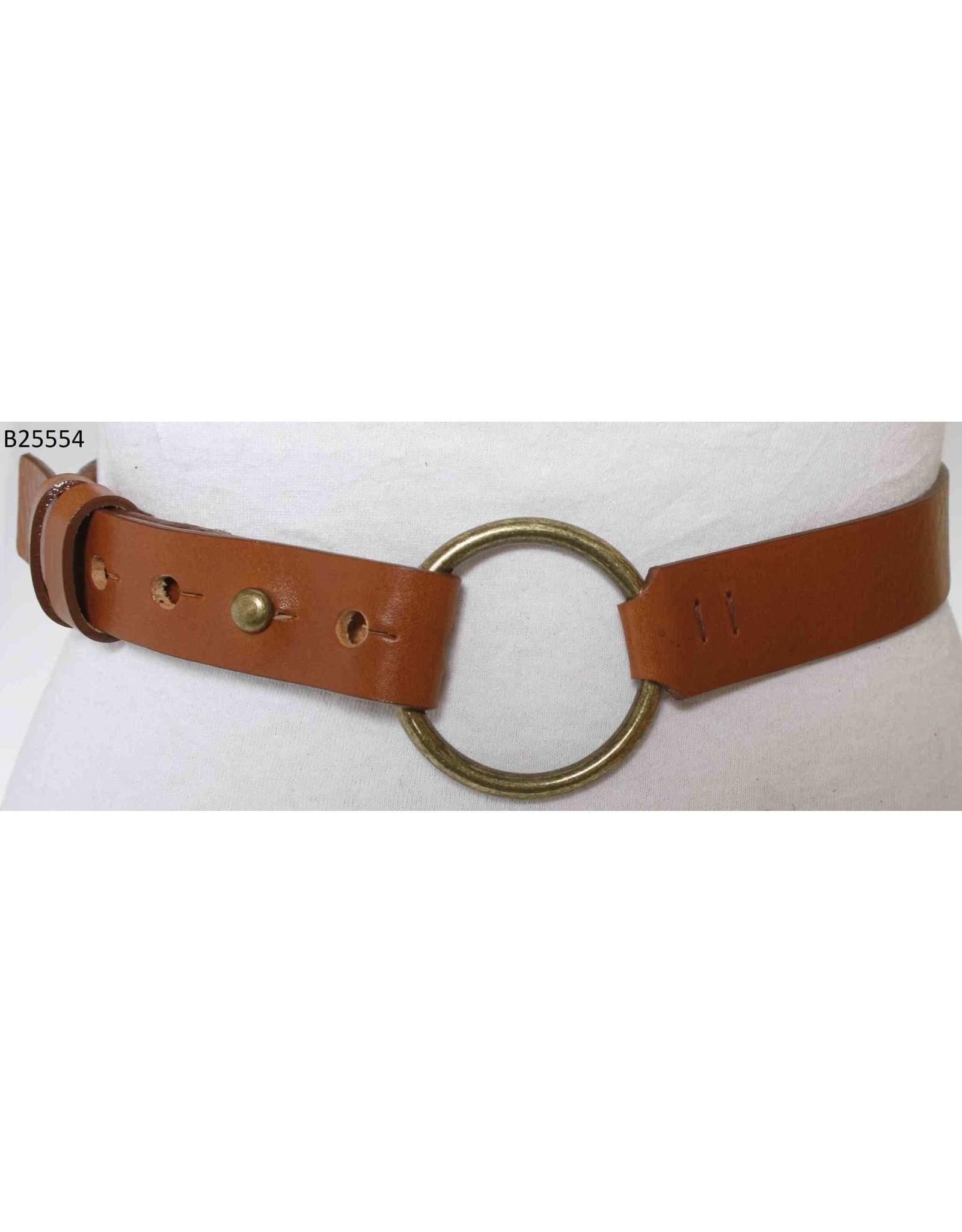 Medike Landes Medike Landes - Lyla camel leather belt with front ring