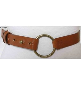 Medike Landes Medike Landes - Lyla camel leather belt with front ring